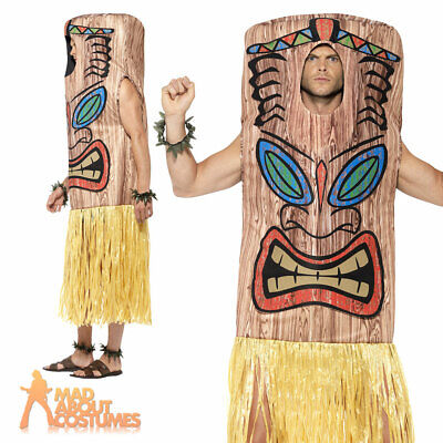 £29.99 • Buy Adult Mens Hawaiian Tiki Totem Pole Costume Native Funny  Fancy Dress Outfit