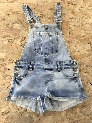 Girls Dungaree Shorts Age 12-13 Years Coolcat Blue Denim D3075 • 9.99£