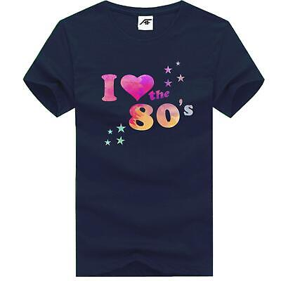 Womens I Love The 80s Classic Print T Shirt Hen Party Girls Top Cotton Tee 7857 • 7.99£