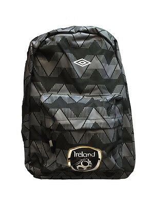 New Republic Of Ireland Fai Euro Graphics Backpack Black / White • 14.99£