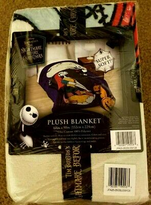 New Disney The Nightmare Before Christmas Super Soft Throw Blanket 60 X 90 • 21.94£