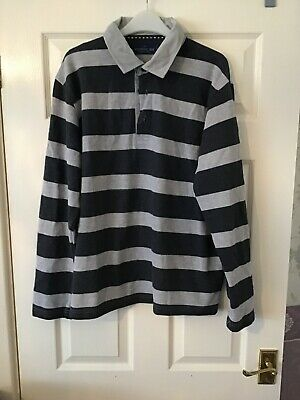 Bhs Atlantic Bay Long  Sleeved Top With Corduroy Collar Large • 2.50£