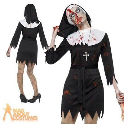 £13.49 • Buy Womens Zombie Nun Costume Ladies Sister Mary Adult Halloween Fancy Dress Outfit