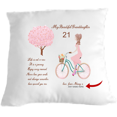 Granddaughter Cuddle Cushion Pillow Gift Idea Sending Love Personalised • 9.99£