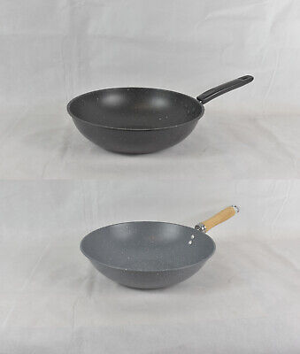 CookSpace ® Mastercook Commercial Quality Oriental Carbon Steel Wok 12 inch 30cm