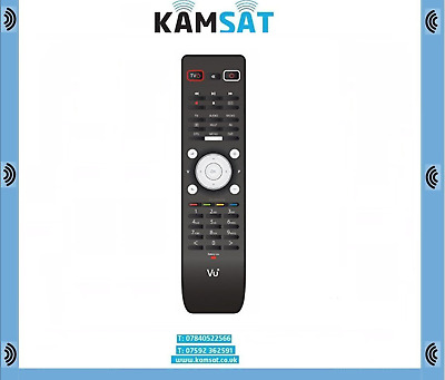 REMOTE CONTROL ORIGINAL VU+ DUO 2 NEW FIT TO DUO, DUO 2, Solo 4K, Solo 2 ETC • 29.99£