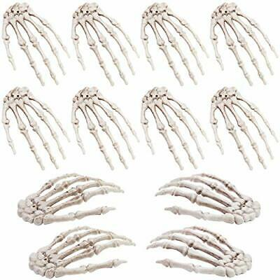 12 Pieces Halloween Realistic Life Size Skeleton Hands  - 6.1 X 4 Inches Plastic • 17.99£