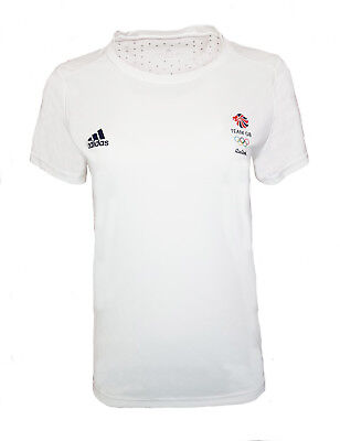 Adidas Climachill Training T Shirt Womens 14 16 18 Team GB Olympics Running Gym • 9.99£