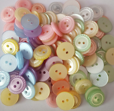 $9.80 • Buy HolmeCraft Pack Of 120 Rope Buttons 14mm (size 22) Assorted Baby Colours