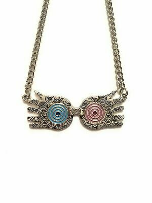 Harry Potter Necklace Glasses Luna Lovegood Spectacles Gorgosprizzi Nickel Free • 11.46£