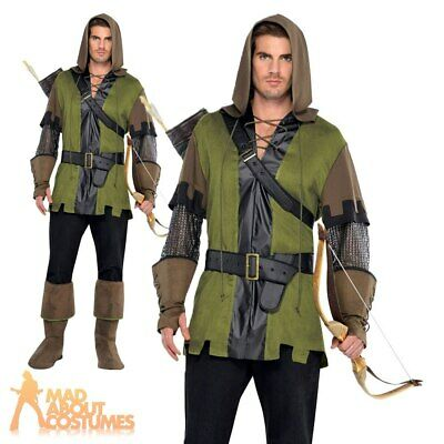 Mens Robin Hood Costume Prince Of Thieves Medieval Adults Fancy Dress Outfit  • 22.79£