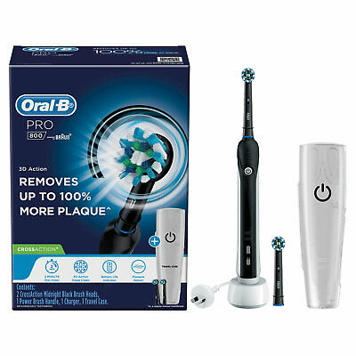 AU82.50 • Buy Oral-B Pro 800 Electric Toothbrush Rechargeable CrossACTION 3D Action TravelCase
