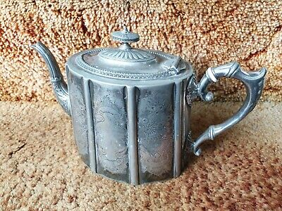 Antique James Dixon And Sons 4372 Electroplated Silver Tea Pot19th Century  • 15£