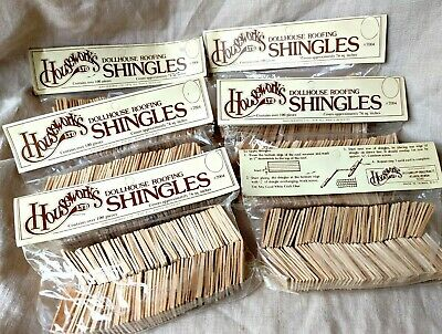 $24 • Buy Six Packs Of Shingles 100 Pc/pkg Dollhouse Miniature #7004 Roofing  1/12 Scale