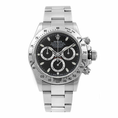 $ CDN25999.95 • Buy Rolex Daytona Cosmograph Black Dial Steel Automatic Mens Watch 116520BKSO