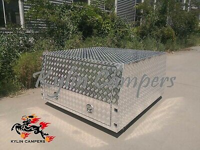 AU2450 • Buy 1650L Checker Plate Jack Off Canopy Ute Campers 2 Doors Ute Tray Toolbox