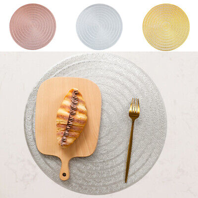AU9.13 • Buy PVC Round Woven Placemat Dining Table Mats Non-Slip Washable Kitchen Decor Gifts