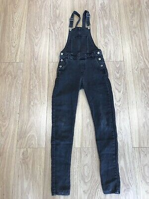 Girls Dungarees Age 10 To 11 Years H&M Black Denim D3155 • 11.99£