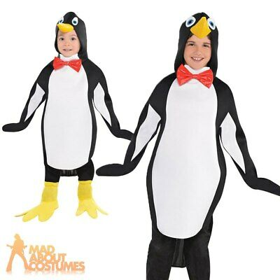 Childs Penguin Costume Girls Fancy Dress Boys Book Week Day Kids Bird Zoo Animal • 12.49£
