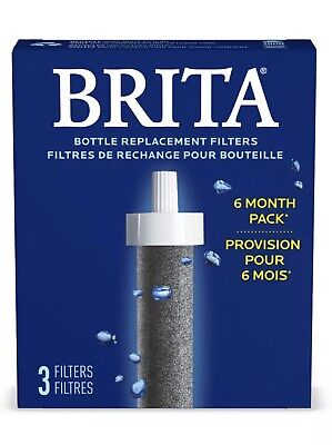 NEW Brita Water Bottle Replacement Filters 3-Pack 6 Month Supply 8N20045 • 8.05£
