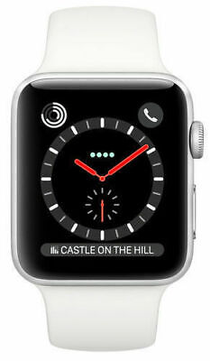 $ CDN268.10 • Buy Apple Watch Series 3 42mm Stainless Case White Sport Band (GPS + Cellular)