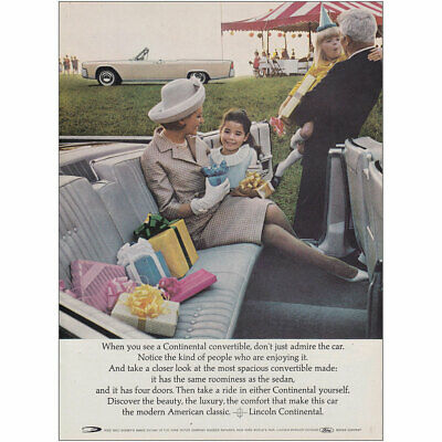 $6.75 • Buy 1964 Lincoln Continental Convertible: Dont Just Admire Vintage Print Ad