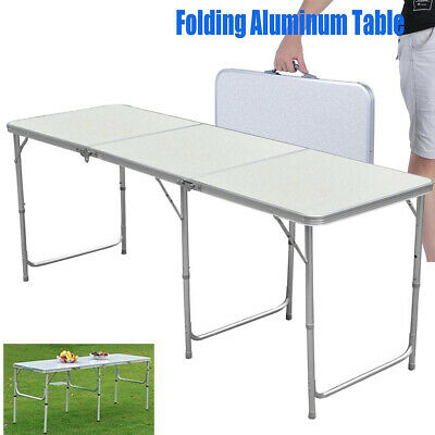 1.8m/6ft Heavy Duty Folding Table Portable Plastic Camping Garden Party Catering • 30.99£