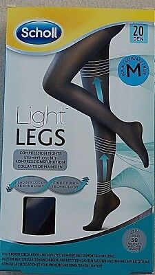 Scholl Light Legs Compression Tights 20 Den Black - Medium • 6.99£