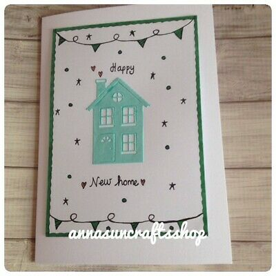 Handmade Happy New Home Card, Personalised • 1.75£