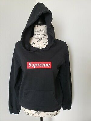 $ CDN245.93 • Buy Supreme Red Box Logo Black Hoodie Size Small  Pre-shrunk