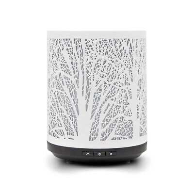 AU92.17 • Buy Forest Trees Metal Ultrasonic Air Humidifier Mist Essential Oil Diffuser LEDLamp