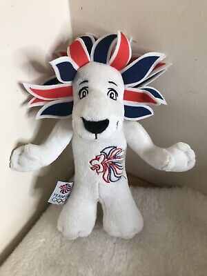 London 2012 Lion Olympic Games Team GB Mascot Soft Toy Plush Collectible • 5.50£