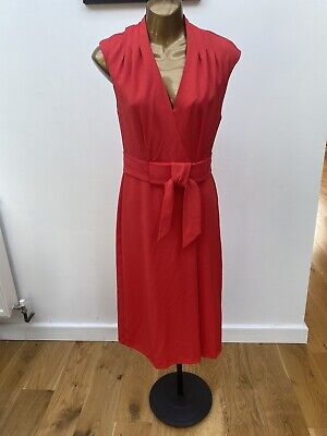 £14 • Buy Gok Wan Bright Red V Neck Bow Dress With Control Slip - UK Size 8