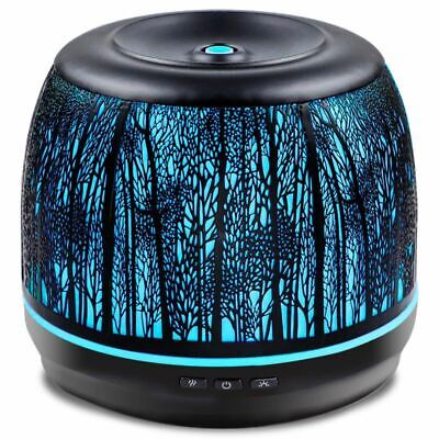 AU97.84 • Buy 500 Ml Forest Metal Iron Tree Ultrasonic Humidifier Essential Oil Diffuser LED