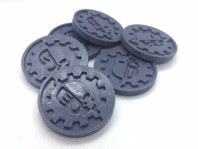 X6 Adeptus Mechanicus Objective/location Markers For Team Kill 40k 28 Mm Wargame • 4.99£