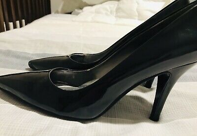 AU17 • Buy Nine West Black Patent Leather Martina Heels Sz 7 38