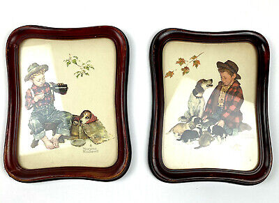 $ CDN35.33 • Buy  Set Of 2 Vintage1978 Norman Rockwell A Boy And His Dog Embossed Prints Framed