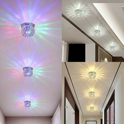 Crystal LED 5W Ceiling Light Fixture Pendant Lamp Lighting Chandelier Spot NEW • 5.99£