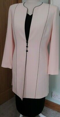 Mother Of The Bride Matching Condici Set Size 18 Pink And Black • 70£