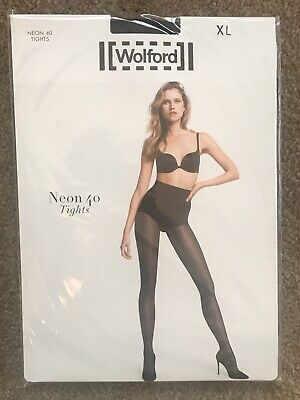Wolford Neon 40 Tights XL Admiral Colour Brand New In Packaging • 13.50£