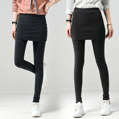 Womens Sexy High Waist Slim Leggings Pants Skinny Pencil Trousers With Skirts • 12.11£