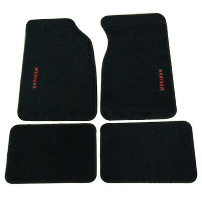 $52.99 • Buy For 99-04 Ford Mustang Front & Rear Floor Mats Carpets Nylon Black W/ Red Letter