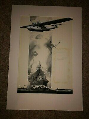 $359.99 • Buy Rare Original Signed Advertising Illustration Painting 1930s Military Plane WWII