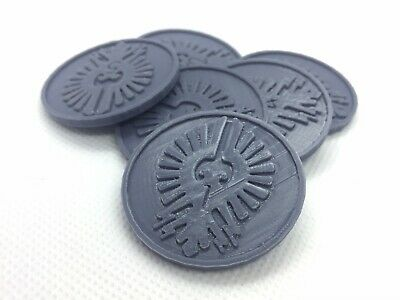 X6 Adeptus Custodes Objective/location Markers For Team Kill 40k 28 Mm Wargame • 4.99£