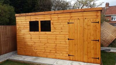 12x8 Shed Heavy Duty T&G 3x2 Framing DOUBLE DOORS FREE DELIVERY/FITTING  • 890£