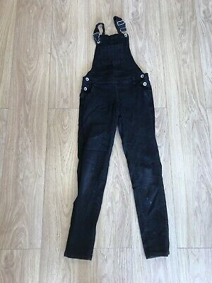 Girls Dungarees Age 10 To 11 Years Denim Co Black Denim D3225 • 8.99£