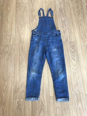 Girls Dungarees Age 12 To 13 Years Blue Denim D3235 • 8.99£