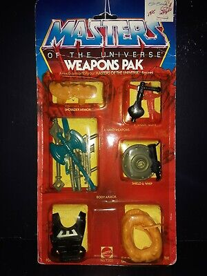 $65 • Buy 1983 Masters Of The Universe - Weapons Pack - Moc - Sealed In Package