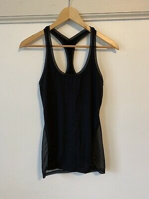 $ CDN21.09 • Buy Lululemon Black Mesh Tank 4 Hot Yoga SO CUTE