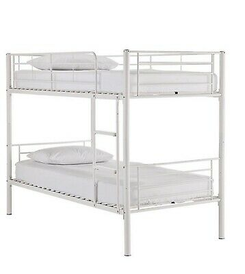 Bunk Beds White Metal With Mattress • 100£